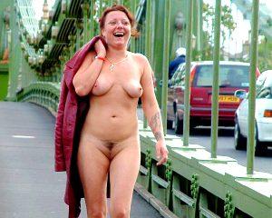 Hammersmith bridge public nude
